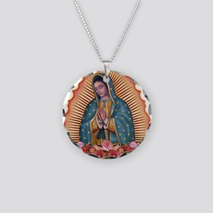Lady of Guadalupe T2 Necklace Circle Charm