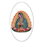 Lady of Guadalupe T2 Sticker (Oval 50 pk)