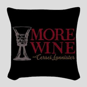 GOT Cersei More Wine Woven Throw Pillow