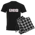 Earn. Mow. Grill. Men's Dark Pajamas