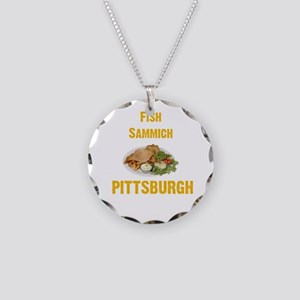 Fish sammich Necklace Circle Charm