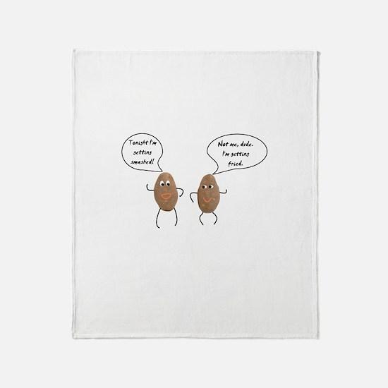 Talking Potatoes Throw Blanket