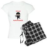 Ninja Bartender with Martini Women's Light Pajamas