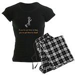 Time to Lean Women's Dark Pajamas