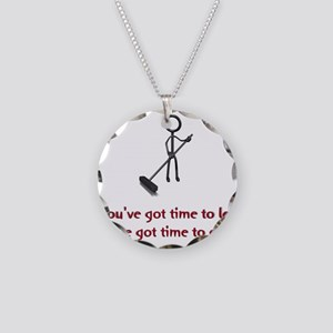 Time to Lean Necklace Circle Charm