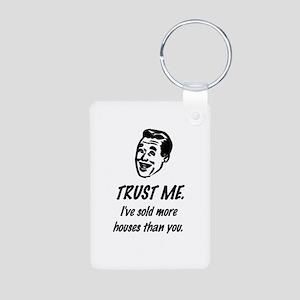 Trust Me Male Aluminum Photo Keychain