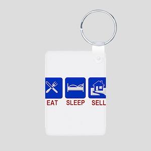 Eat. Sleep. Sell. Aluminum Photo Keychain