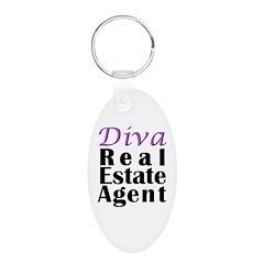 Diva Real estate Agent Keychains