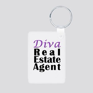 Diva Real estate Agent Aluminum Photo Keychain