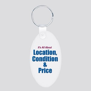 Location, Condition and Price Aluminum Oval Keycha