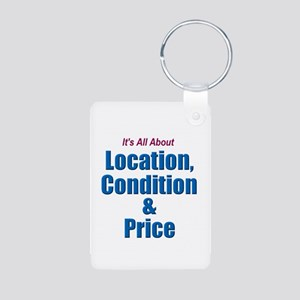 Location, Condition and Price Aluminum Photo Keych