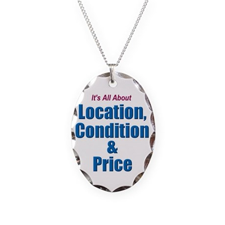Location, Condition and Price Necklace Oval Charm