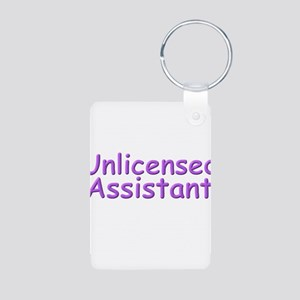 Unlicensed Assistant Aluminum Photo Keychain