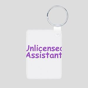 Unlicensed Assistant Aluminum Photo Keychain