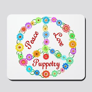 Puppetry Peace Sign Mousepad