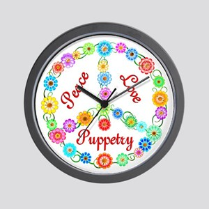 Puppetry Peace Sign Wall Clock