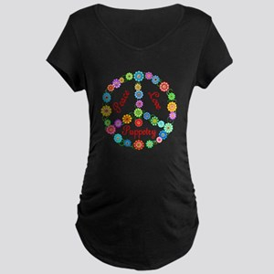 Puppetry Peace Sign Maternity Dark T-Shirt