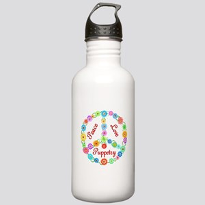 Puppetry Peace Sign Stainless Water Bottle 1.0L