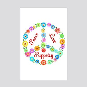 Puppetry Peace Sign Mini Poster Print