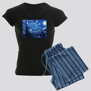 Starry Night Border Collies Women's Dark Pajamas