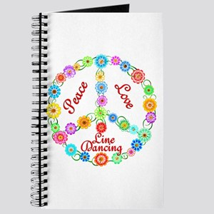Line Dancing Peace Sign Journal