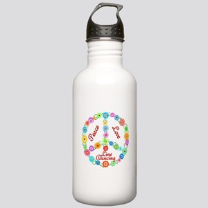 Line Dancing Peace Sign Stainless Water Bottle 1.0