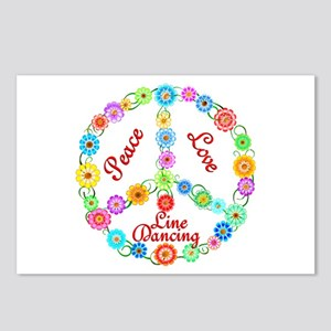 Line Dancing Peace Sign Postcards (Package of 8)