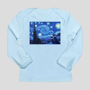 Starry Night Border Collies Long Sleeve T-Shirt