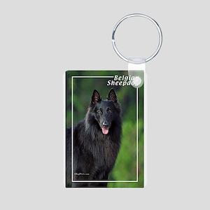 Belgian Sheepdog-1 Aluminum Photo Keychain