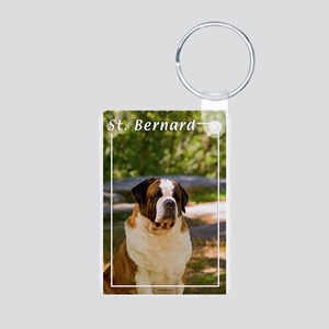 St Bernard-4 Aluminum Photo Keychain