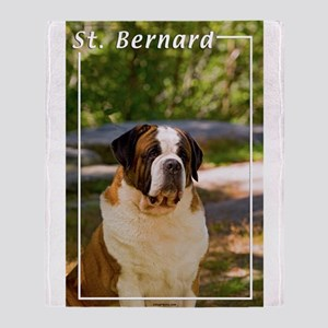 St Bernard-4 Throw Blanket