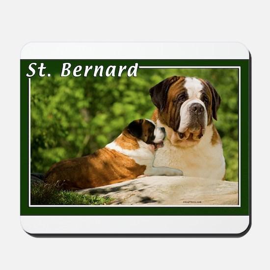 St Bernard-3 Mousepad
