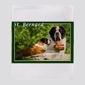 St Bernard-1 Throw Blanket