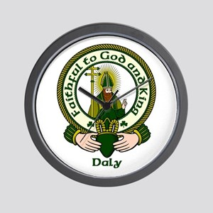 Daly Clan Motto Wall Clock