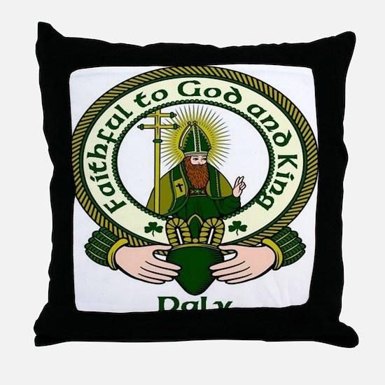 Daly Clan Motto Throw Pillow