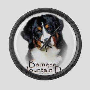 Bernese Mountain Dog Large Wall Clock