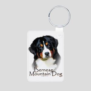 Bernese Mountain Dog Aluminum Photo Keychain