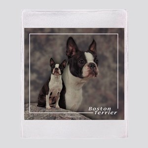 Boston Terrier-1 Throw Blanket