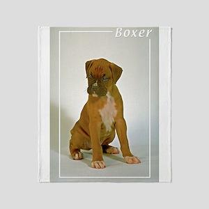 Boxer-5 Throw Blanket