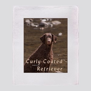 Curly Coated Retriever-4 Throw Blanket