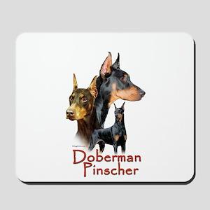 Doberman Pincher-1 Mousepad