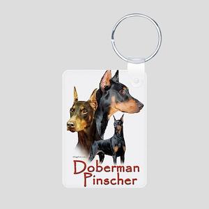 Doberman Pincher-1 Aluminum Photo Keychain