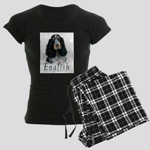 English Cocker Spaniel-1 Women's Dark Pajamas