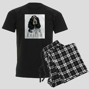 English Cocker Spaniel-1 Men's Dark Pajamas