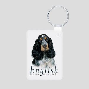 English Cocker Spaniel-1 Aluminum Photo Keychain