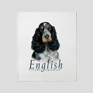 English Cocker Spaniel-1 Throw Blanket
