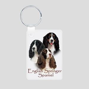 English Springer Spaniel Aluminum Photo Keychain