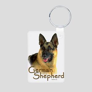 German Shepherd Dog-2 Aluminum Photo Keychain