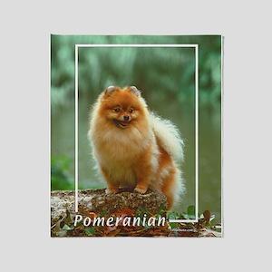 Pomeranian-2 Throw Blanket