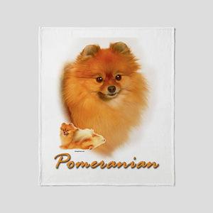 pomeranian-1 Throw Blanket